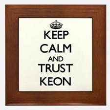 Keep Calm and TRUST Keon Framed Tile