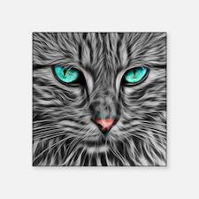 Fractal grey cat illustration Sticker