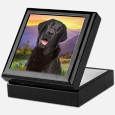 Labrador Meadow (button) Keepsake Box
