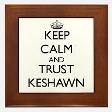 Keep Calm and TRUST Keshawn Framed Tile