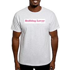 """Bulldog Lover"" Pink T-Shirt"