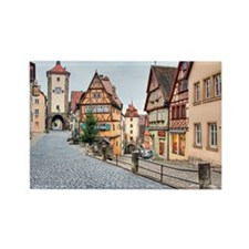 Rothenburg old town Rectangle Magnet