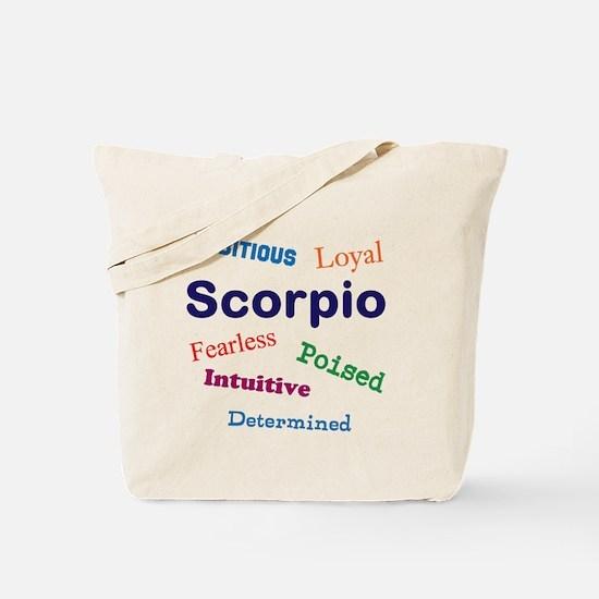 Scorpio Traits Characteristics Tote Bag