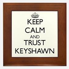 Keep Calm and TRUST Keyshawn Framed Tile