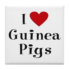 Guinea Pig Tile Coaster: I Love Guinea Pigs