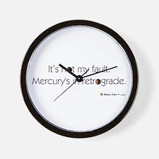 Mercury's in Retrograde Wall Clock