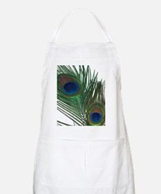 Lovely White Peacock Feather Apron