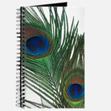 Lovely White Peacock Feather Journal