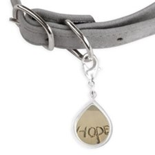 """Hope"" sand written on the  Small Teardrop Pet Tag"