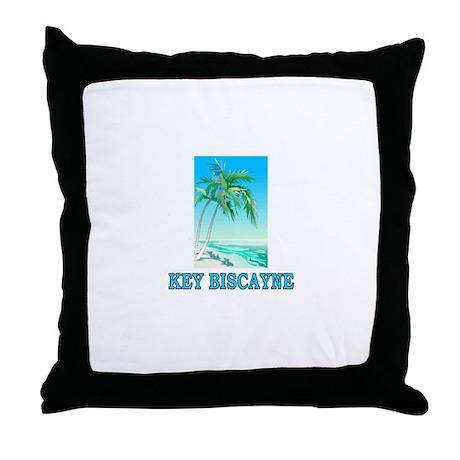 Key Biscayne, Florida Throw Pillow
