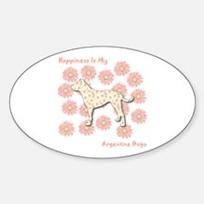 Dogo Happiness Oval Decal
