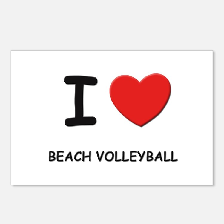 I love beach volleyball  Postcards (Package of 8)