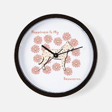 Beauceron Happiness Wall Clock