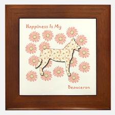 Beauceron Happiness Framed Tile