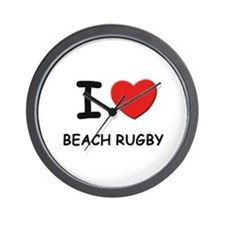 I love beach rugby  Wall Clock