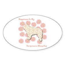 Bergamasco Happiness Oval Decal
