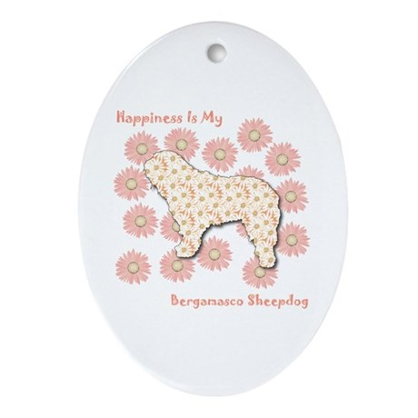 Bergamasco Happiness Oval Ornament