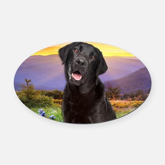 Labrador Meadow (tote) Oval Car Magnet