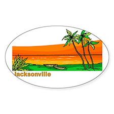 Jacksonville, Florida Oval Decal