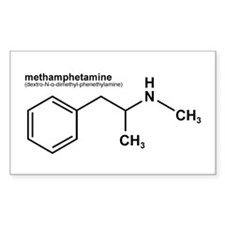 Methamphetamine Rectangle Decal
