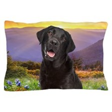 Labrador Meadow (oval) Pillow Case