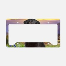 Labrador Meadow (oval) License Plate Holder