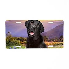 Labrador Meadow (oval) Aluminum License Plate