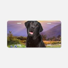 Labrador Meadow (oval) Aluminum License Plate