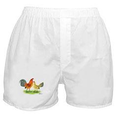 Blue Ginger Old English Boxer Shorts