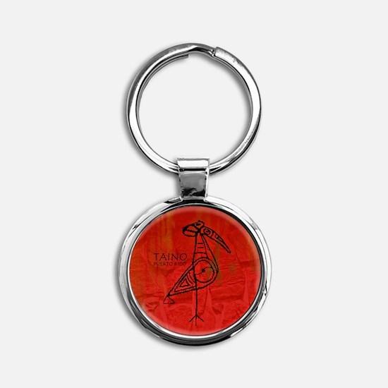 Taino Bird, Puerto Rico Round Keychain