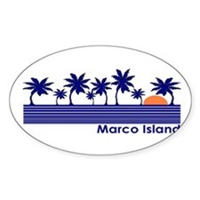Marco Island, Florida Oval Decal