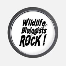 Wildlife Biologists Rock ! Wall Clock