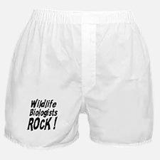 Wildlife Biologists Rock ! Boxer Shorts