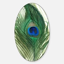 Green Apple Peacock Feather Decal
