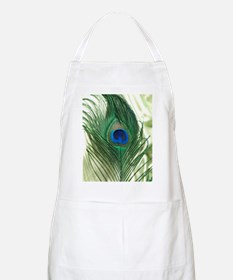 Green Apple Peacock Feather Apron