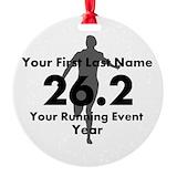 Marathon Round Ornament