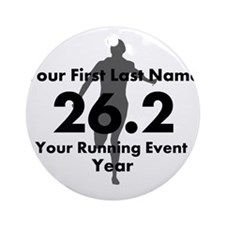 Customizable Running/Marathon Ornament (Round)
