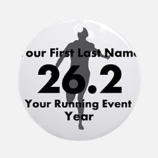 Customizable Running/Marathon Ornament (Round)