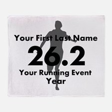 Customizable Running/Marathon Throw Blanket