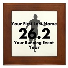 Customizable Running/Marathon Framed Tile