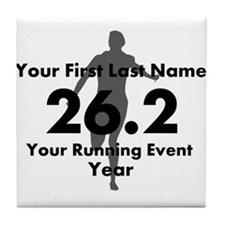 Customizable Running/Marathon Tile Coaster