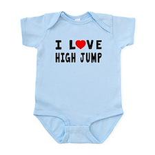 I Love High Jump Infant Bodysuit