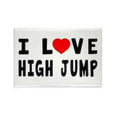 I Love High Jump Rectangle Magnet