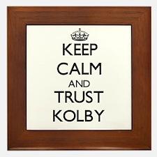 Keep Calm and TRUST Kolby Framed Tile
