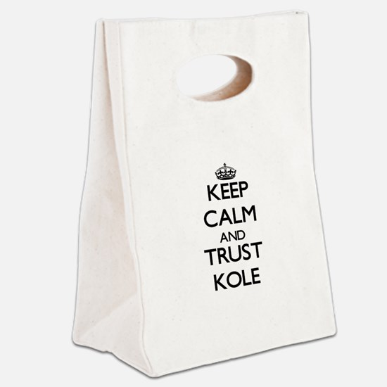 Keep Calm and TRUST Kole Canvas Lunch Tote