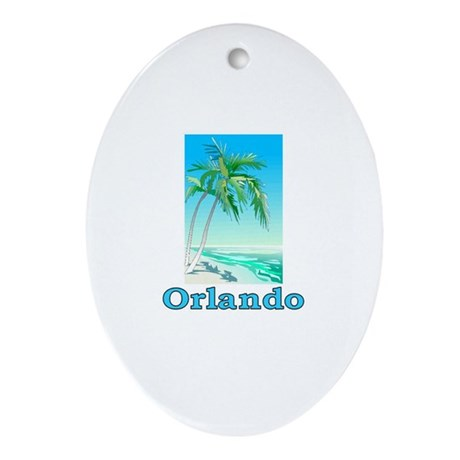 Orlando, Florida Oval Ornament