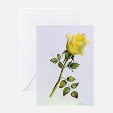 Yellow Rose Greeting Cards