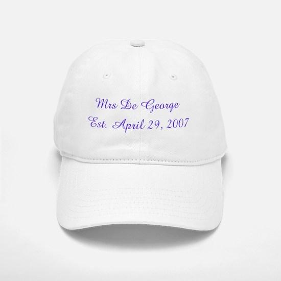 Mrs De George Est. April 29 Baseball Baseball Cap
