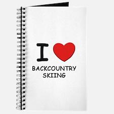 I love backcountry skiing Journal