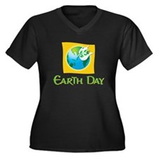 Official Earth Day Shirt - Women's Plus Size V-N